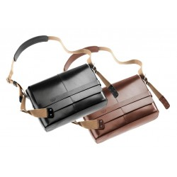Messenger bag Books Barbican cuir