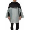 Cape de pluie Vaude Covero II gris porté avant