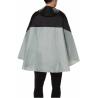 Cape de pluie Vaude Covero II gris porté arrière