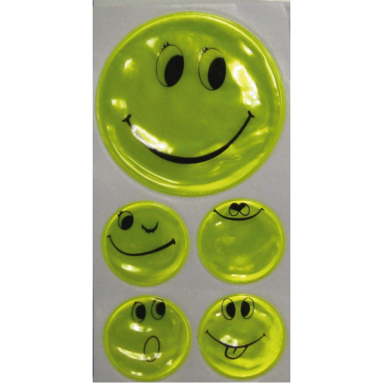 Autocollants fluo Smiley