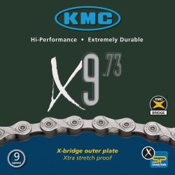 Chaîne vélo 9 vitesses KMC X9-73