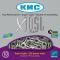 Chaîne vélo 10 vitesses KMC X10-SL Silver - Axe creux usiné