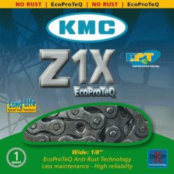 Chaîne vélo antirouille KMC Z1X EPT - Monovitesse