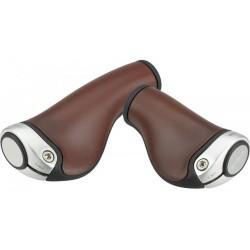 Poignées ergonomiques Brooks Ergon GP1 Nexus / Rohloff brun