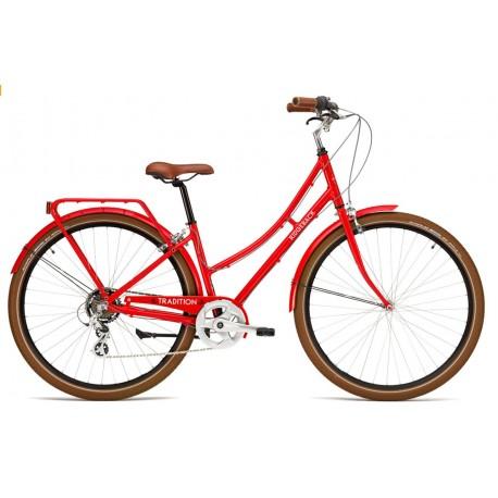 Vélo de ville Ridgeback Tradition Femme Rouge