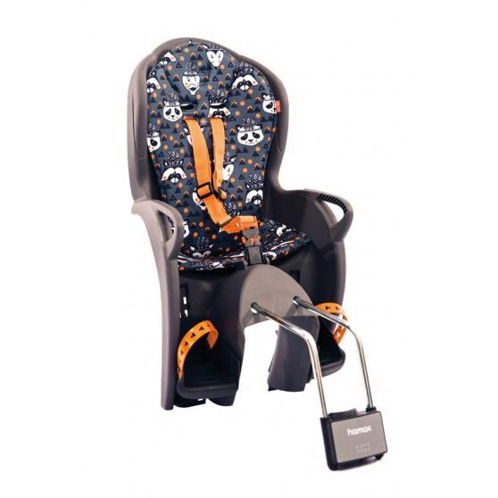 Porte-bébé vélo arrière sur cadre Hamax Kiss Gris/Orange