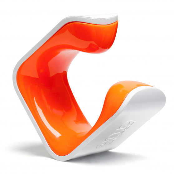 Support mural Hornit Clug orange/blanc vue frontale