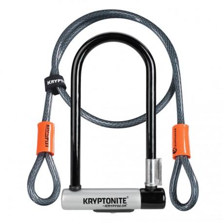 Antivol U Kryptonite Kryptolok Standard avec câble Kryptoflex