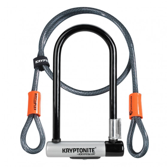 Antivol U Kryptonite Kryptolok Standard avec câble Kryptoflex
