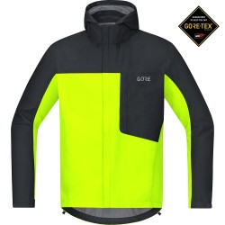 Veste à capuche Gore Wear C3 Gore-Tex Paclite neon yellow/black