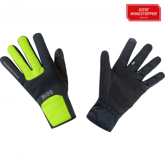 Gants Gore Wear M Windstopper Thermo black/neon yellow