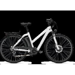 Vélo électrique voyager move I8 blanc trapeze