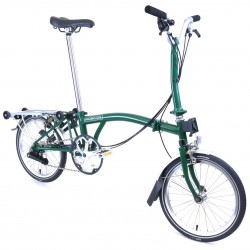 Vélo pliant Brompton type M 6 vitesses racing green