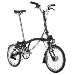 Vélo pliant Brompton type H 3 vitesses noir
