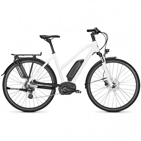Vélo de randonnée électrique Kalkhoff Endeavour 1.B Move white glossy trapez