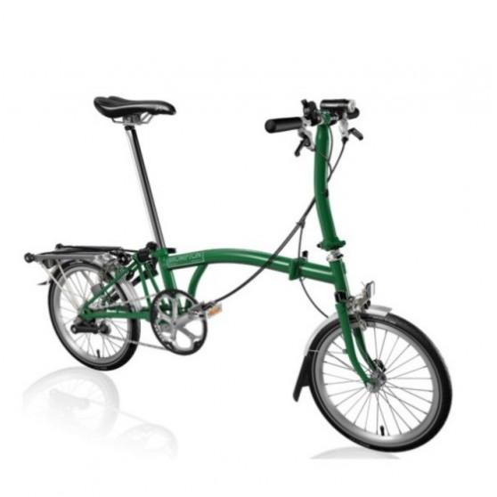 Vélo pliant Brompton type S 2 vitesses lime green