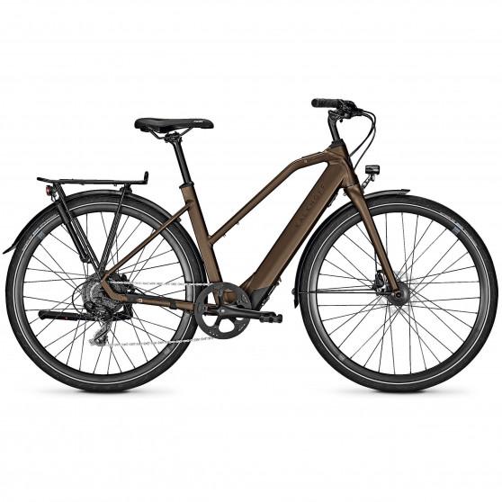 Vélo de ville électrique Kalkhoff Berleen 5.G Move toffeebrown trapez