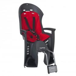 Porte-bébé vélo arrière sur cadre Hamax Smiley Gris/Rouge