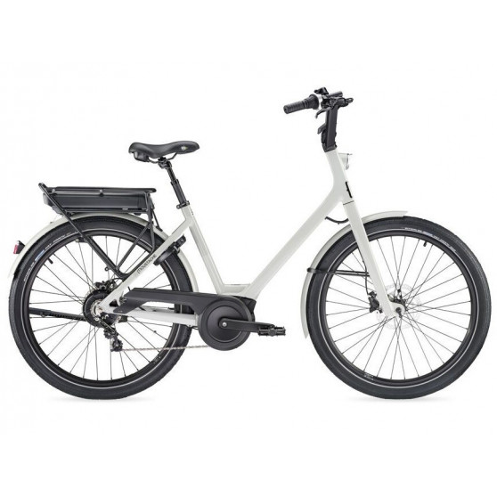 Vélo de ville électrique Moustache Lundi 26.2 gris clair