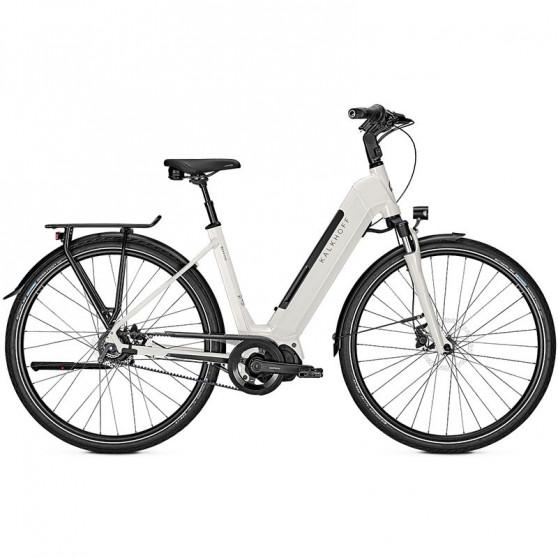 Vélo de ville électrique Kalkhoff Image 5.S Advance whitesmoke glossy trapez