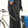 Sur-Pantalon de pluie Vaude Bike Chaps Black ceinture