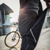 Sur-Pantalon de pluie Vaude Bike Chaps Black réglage