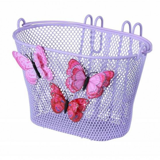 "Panier de vélo enfant Basil Jasmin Butterfly 12-20"" Lilas"