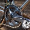 Vélo Gravel Genesis Croix de Fer Titane pédalier Shimano Ultegra