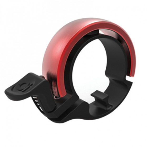 Sonnette cylindrique Knog Oi Large noir / rouge édition limitée [25.4 - 31.8 mm]