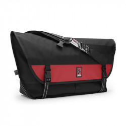 Sac bandoulière Chrome Metropolis black / red 40L
