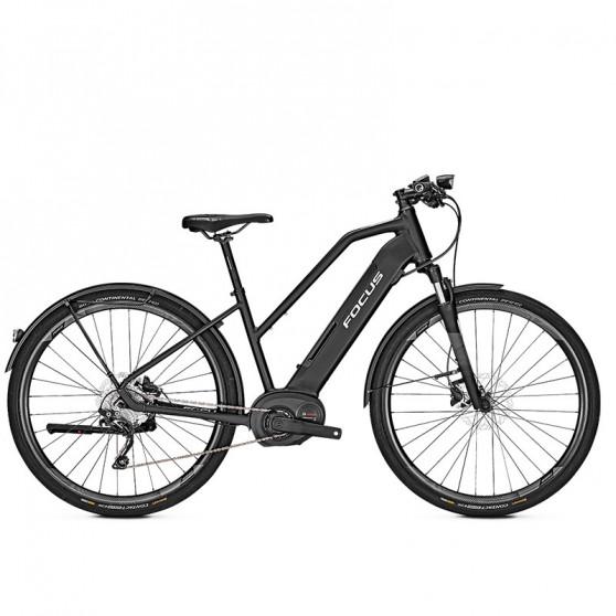 Vélo de ville électrique Focus Planet² 6.8 cadre trapèze noir