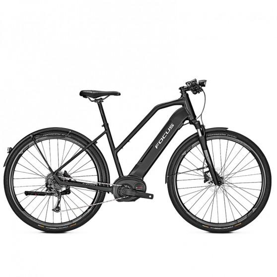 Vélo de ville électrique Focus Planet² 6.7 cadre trapèze noir