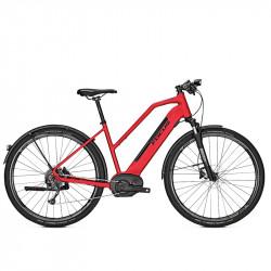 Vélo de ville électrique Focus Planet² 6.7 cadre trapèze rouge