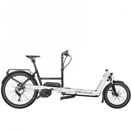 Vélo cargo électrique Riese&Müller Packster 60 gris clair