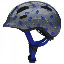 Casque vélo enfant Abus Smiley 2.1 blue mask