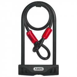 Antivol U Abus Facilo 32 + Antivol câble Cobra
