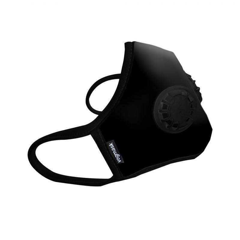 masque anti pollution noir tissu