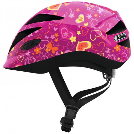Casque vélo enfant Abus Hubble 1.1 purple flower