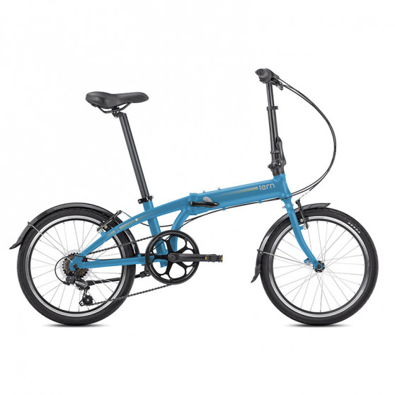 Vélo pliant Tern Link A7 bleu clair
