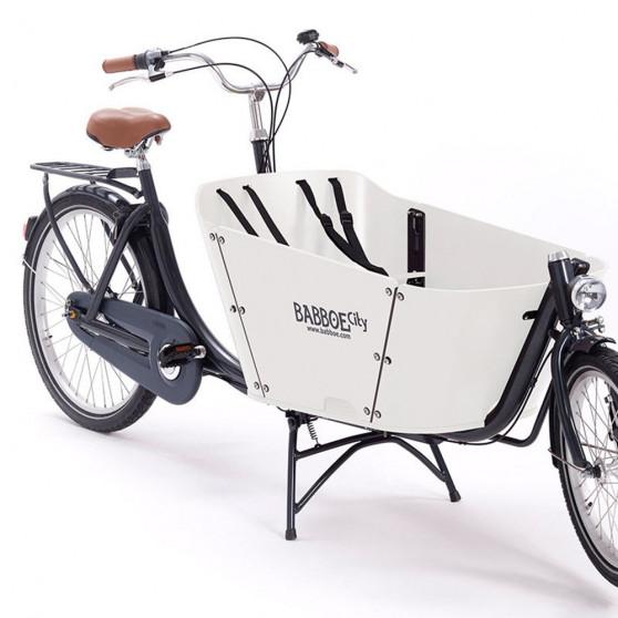 Biporteur Babboe City blanc