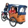 Vélo cargo électrique Babboe Curve-E tente pluie
