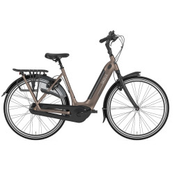 Vélo de ville électrique Gazelle Grenoble C7+ HMB Elite marron