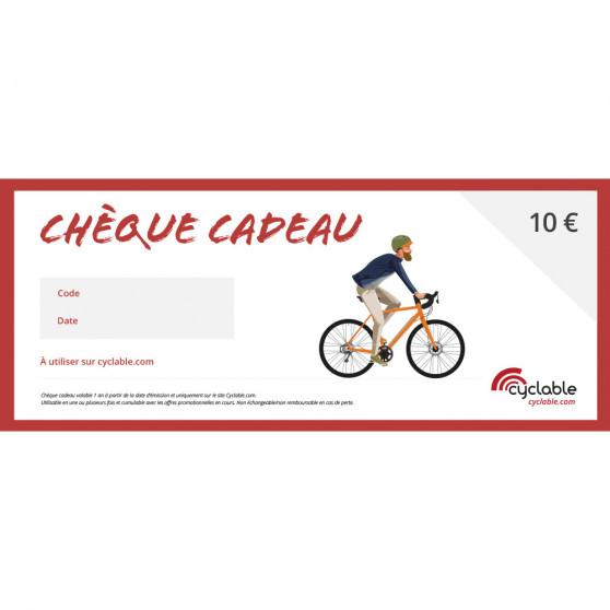 Chèque cadeau Cyclable 10€