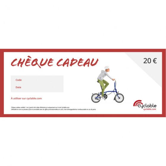 Chèque cadeau Cyclable 20€