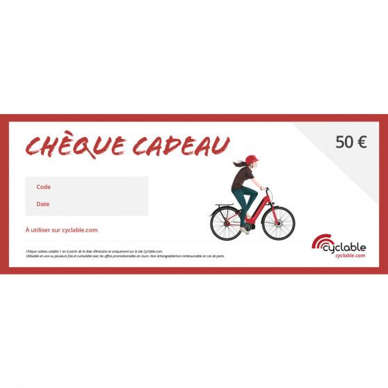 Chèque cadeau Cyclable 50€