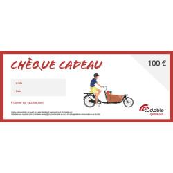 Chèque cadeau Cyclable 100€