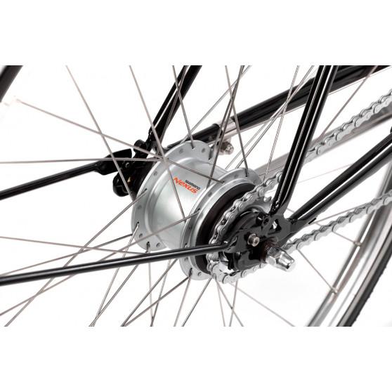 Vélo de ville Pelago Brooklyn noir moyeu Shimano Nexus