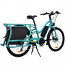 Vélo cargo électrique Yuba Electric Boda Boda Aqua vue 3/4 arrière