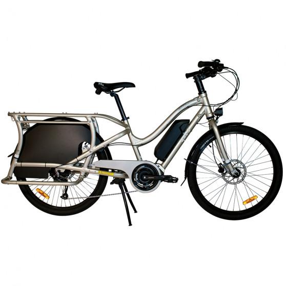 Vélo cargo électrique Yuba Electric Boda Boda Sandstone vue latérale