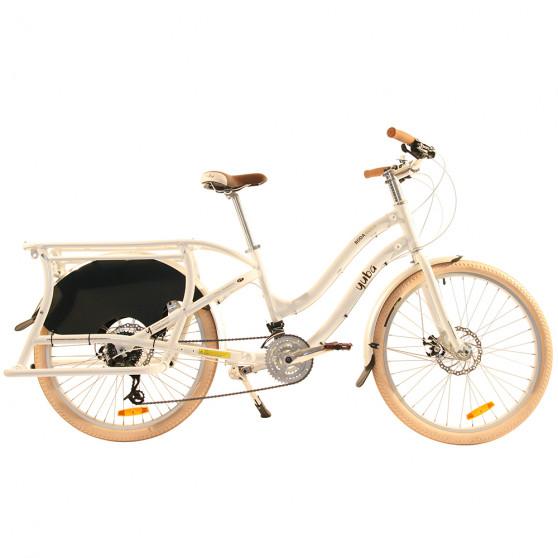Vélo cargo Yuba Boda Boda blanc